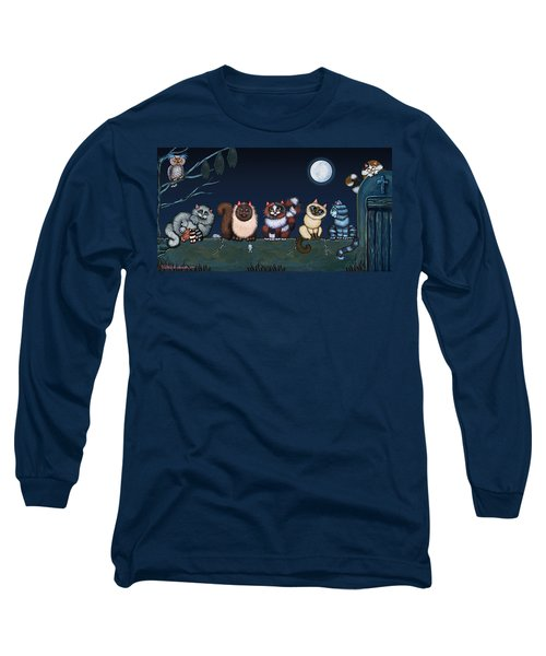 Moonlight On The Wall Long Sleeve T-Shirt