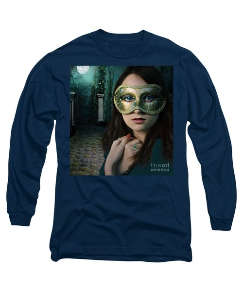 Moonlight Rendezvous Long Sleeve T-Shirt by Linda Lees