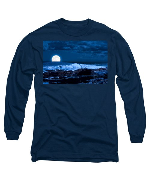 Moonlight Sail Long Sleeve T-Shirt by Fred Larson