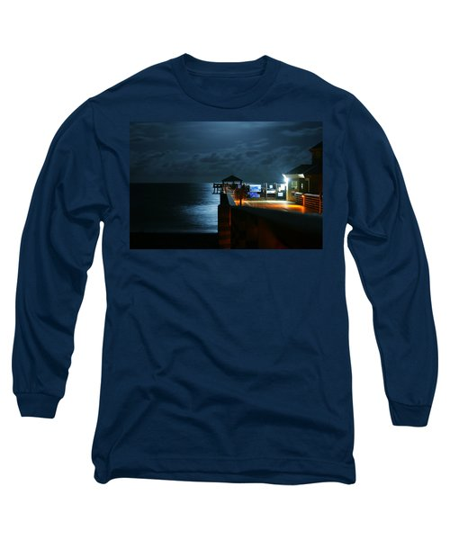 Moonlit Pier Long Sleeve T-Shirt