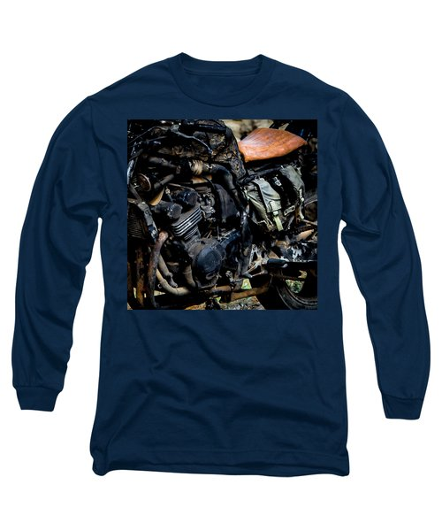 Long Sleeve T-Shirt featuring the photograph Motorbike by Edgar Laureano