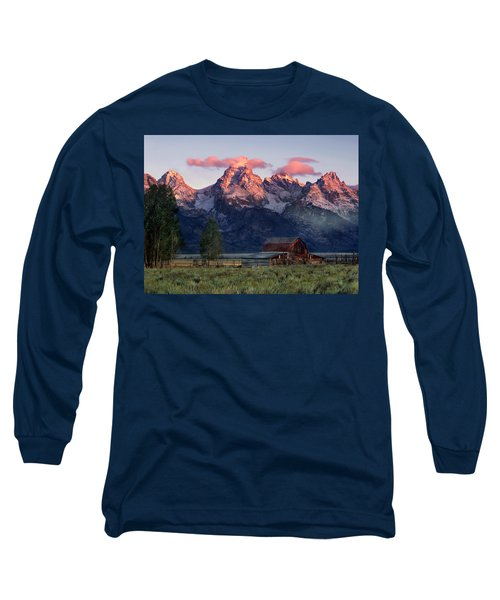 Long Sleeve T-Shirt featuring the photograph Moulton Barn by Leland D Howard