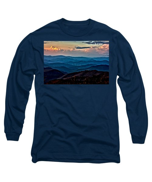 Long Sleeve T-Shirt featuring the photograph Mount Mitchell Sunset by John Haldane