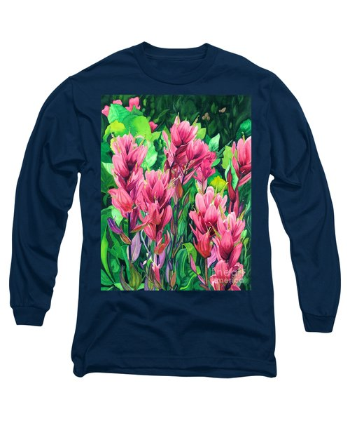 Mountain Meadows' Paintbrush Long Sleeve T-Shirt by Barbara Jewell