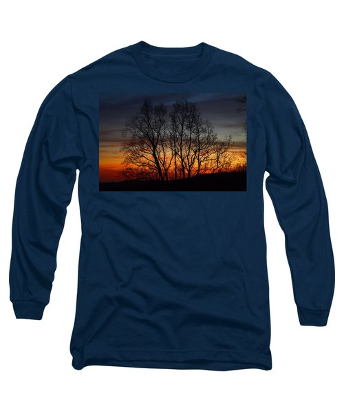 Long Sleeve T-Shirt featuring the photograph Mountain Sunset by Kathryn Meyer