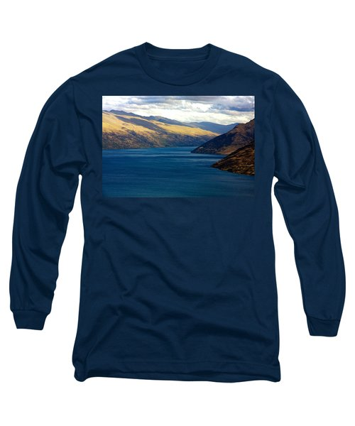 Mountains Meet Lake #2 Long Sleeve T-Shirt by Stuart Litoff
