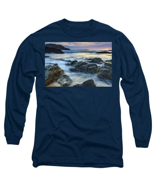 Long Sleeve T-Shirt featuring the photograph Mourillar Beach Galicia Spain by Pablo Avanzini