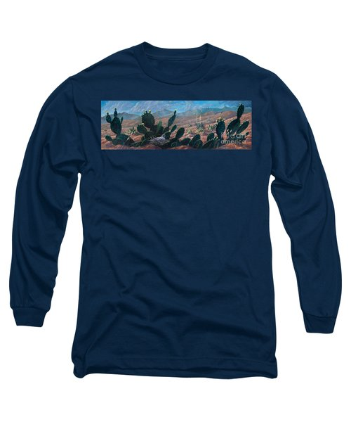 Long Sleeve T-Shirt featuring the painting Mourning Dove Desert Sands by Rob Corsetti