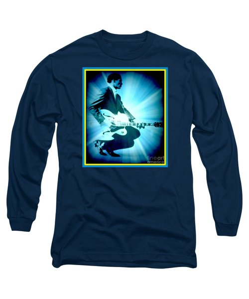 Mr Chuck Berry Blueberry Hill Style Edited 2 Long Sleeve T-Shirt by Kelly Awad
