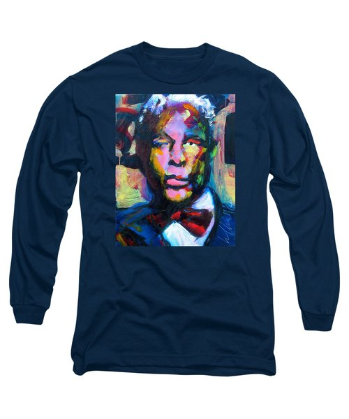 Long Sleeve T-Shirt featuring the painting Mr. Ledbetter by Les Leffingwell