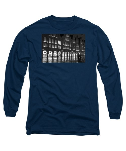 Cobblestone Night Walk In The Town Long Sleeve T-Shirt