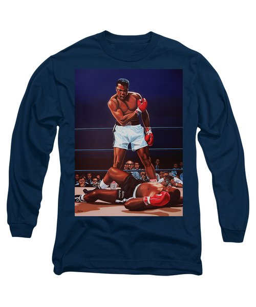 Muhammad Ali Versus Sonny Liston Long Sleeve T-Shirt