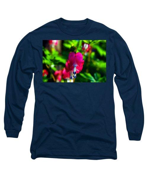 Long Sleeve T-Shirt featuring the photograph My Bleeding Heart by Peggy Franz