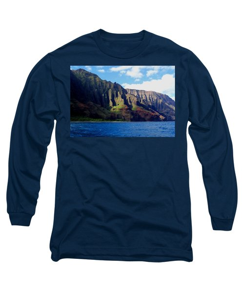 Na Pali Coast On Kauai Long Sleeve T-Shirt