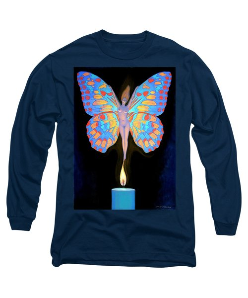 Naked Butterfly Lady Transformation Long Sleeve T-Shirt