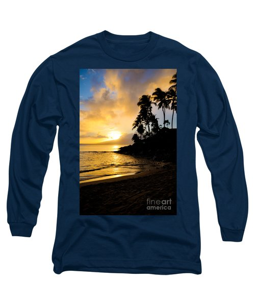 Long Sleeve T-Shirt featuring the photograph Napili Sunset Evening  by Kelly Wade