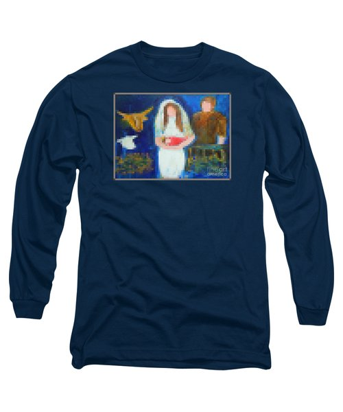 Long Sleeve T-Shirt featuring the painting Nativity 1  by Richard W Linford