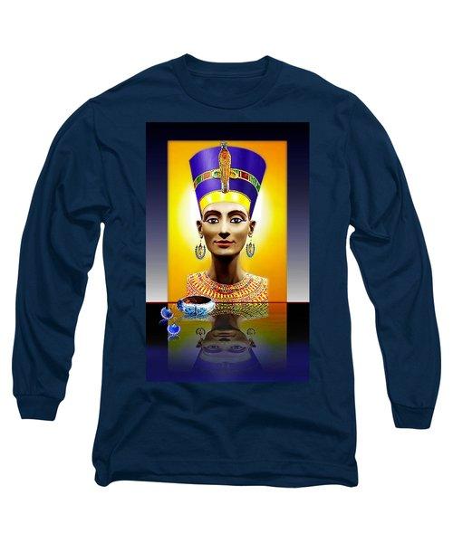 Nefertiti  The  Beautiful Long Sleeve T-Shirt