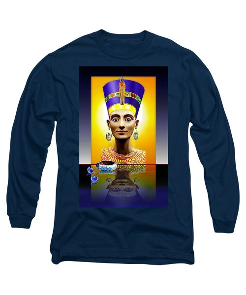 Nefertiti  The  Beautiful Long Sleeve T-Shirt