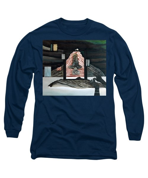 Long Sleeve T-Shirt featuring the painting Negative Ion by Fei A