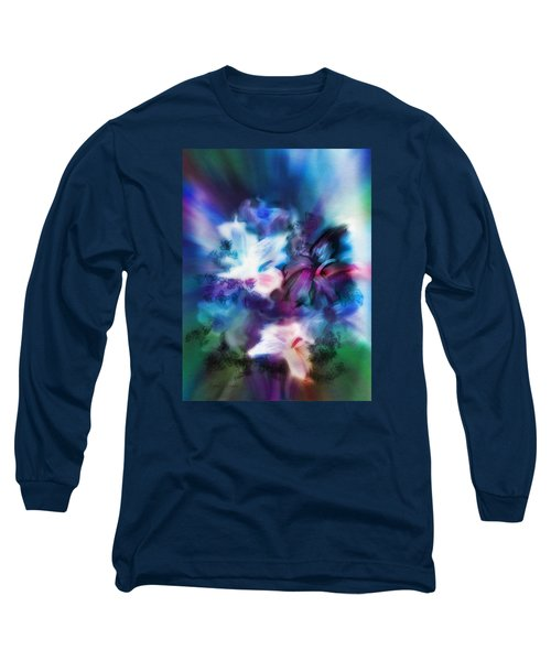 Long Sleeve T-Shirt featuring the digital art New Bouquet by Frank Bright