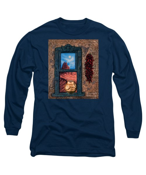 New Mexico Window Gold Long Sleeve T-Shirt