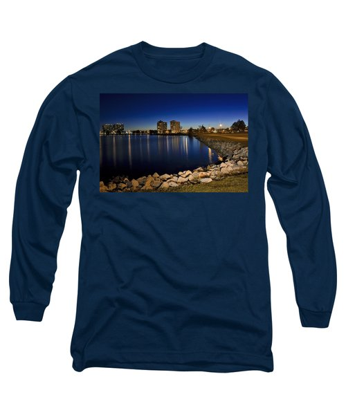 Night Light In Barrie Long Sleeve T-Shirt