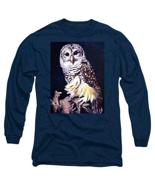 Night Owl Long Sleeve T-Shirt by Vivien Rhyan