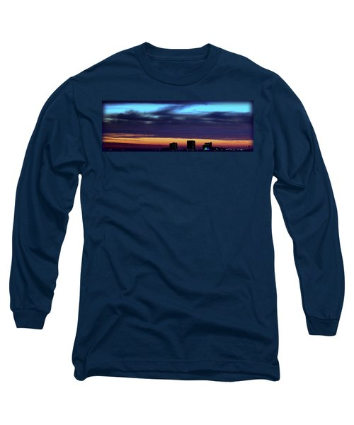 Long Sleeve T-Shirt featuring the photograph Nightfall Over Pensacola Beach by Faith Williams