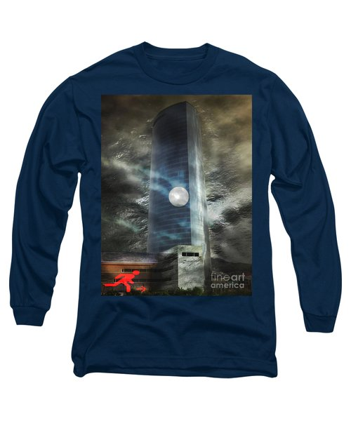 Long Sleeve T-Shirt featuring the digital art Nightmare Tower by Rosa Cobos