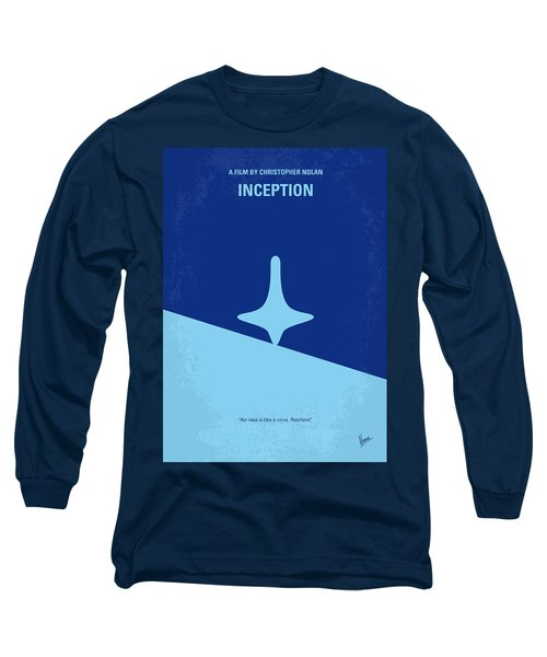 No240 My Inception Minimal Movie Poster Long Sleeve T-Shirt by Chungkong Art