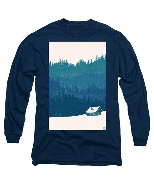 Nordic Ski Scene Long Sleeve T-Shirt