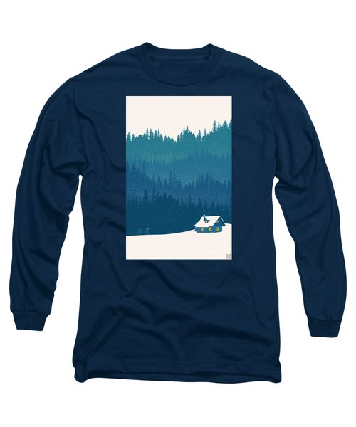 Nordic Ski Scene Long Sleeve T-Shirt