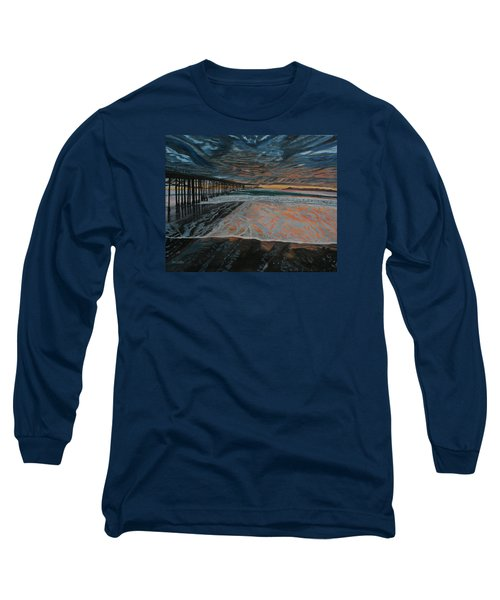 Long Sleeve T-Shirt featuring the painting North Side Of The Ventura Pier by Ian Donley