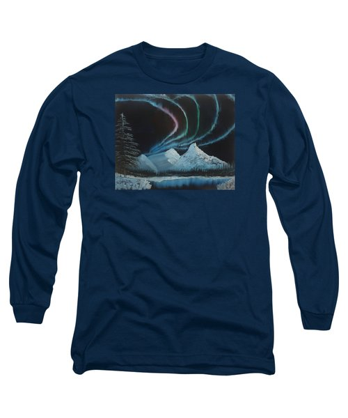 Long Sleeve T-Shirt featuring the painting Northern Lights by Ian Donley