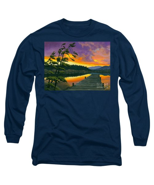 Long Sleeve T-Shirt featuring the painting After Glow - Oil / Canvas by Michael Swanson