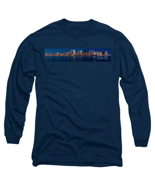 Nyc Pano Long Sleeve T-Shirt by Jerry Fornarotto