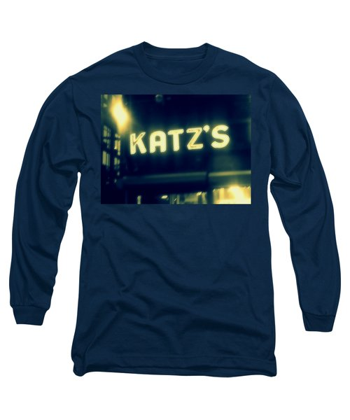Nyc's Famous Katz's Deli Long Sleeve T-Shirt by Paulo Guimaraes