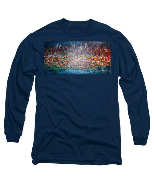 Oak Street Beach Chicago II -sold Long Sleeve T-Shirt by George Riney