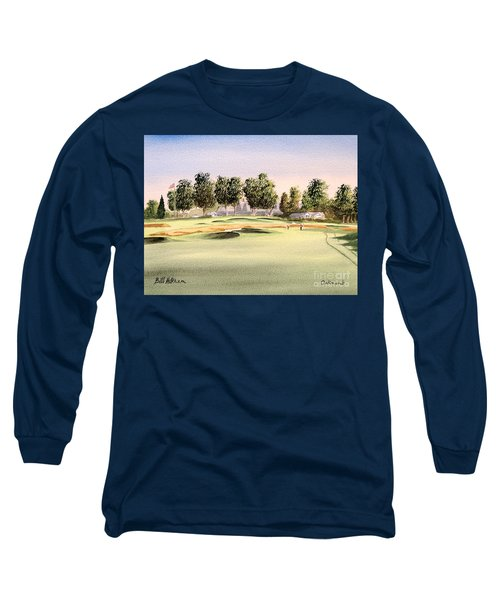 Long Sleeve T-Shirt featuring the painting Oakmont Golf Course 14th by Bill Holkham