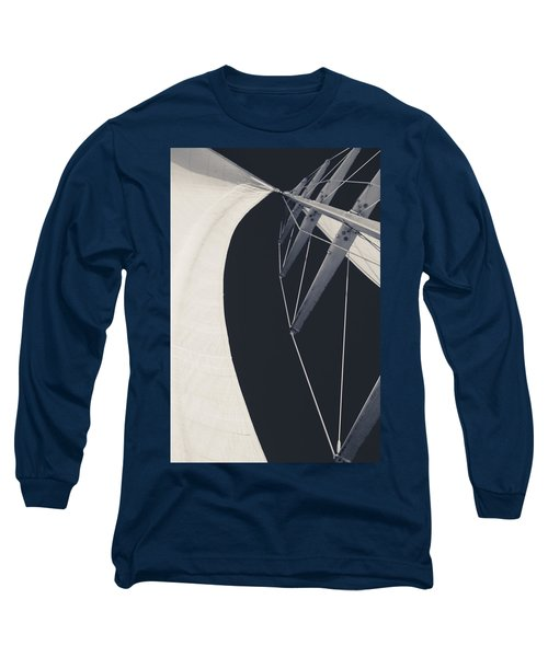 Obsession Sails 9 Black And White Long Sleeve T-Shirt