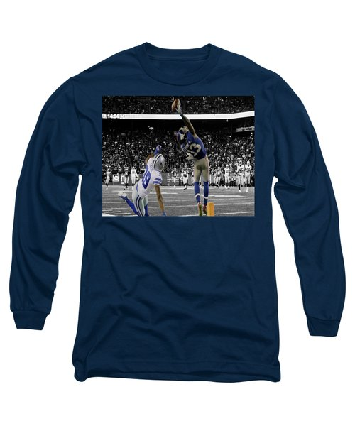 Odell Beckham Greatest Catch Ever Long Sleeve T-Shirt by Brian Reaves
