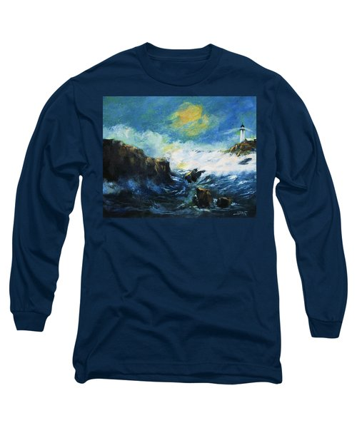 Off Shore Breakers At Dusk Long Sleeve T-Shirt
