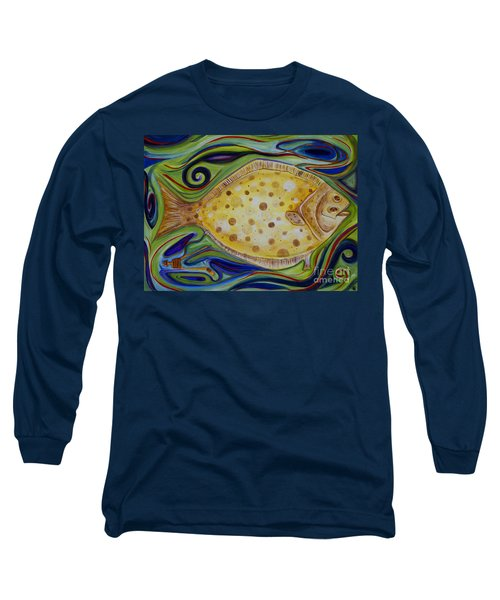 Long Sleeve T-Shirt featuring the painting Off The Hook by Cynthia Lagoudakis