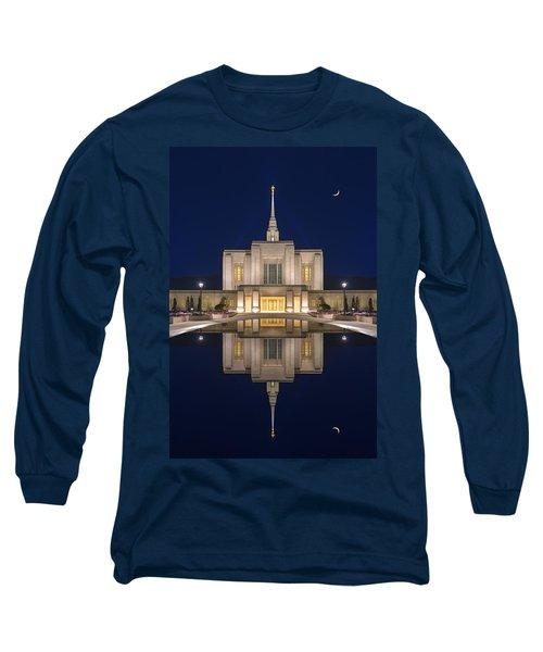 Ogden Temple Reflection Long Sleeve T-Shirt by Dustin  LeFevre