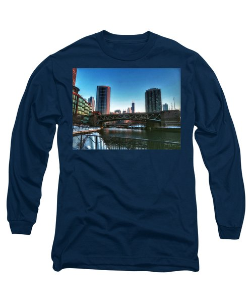 Ohio Street Bridge Over Chicago River Long Sleeve T-Shirt