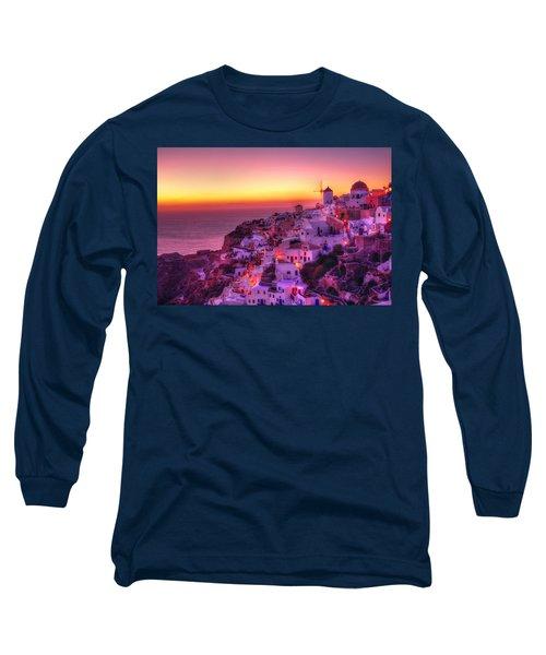 Oia Sunset Long Sleeve T-Shirt
