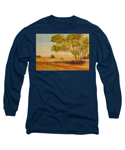 On The Road To Broken Hill Nsw Australia Long Sleeve T-Shirt by Tim Mullaney