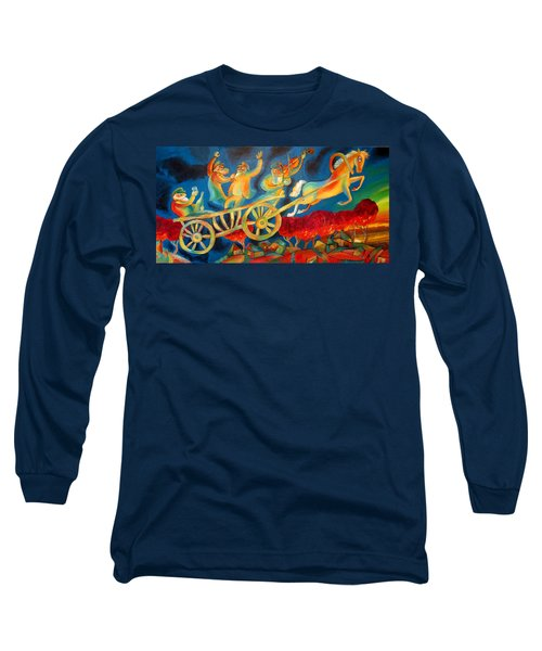 On The Road To Rebbe Long Sleeve T-Shirt by Leon Zernitsky