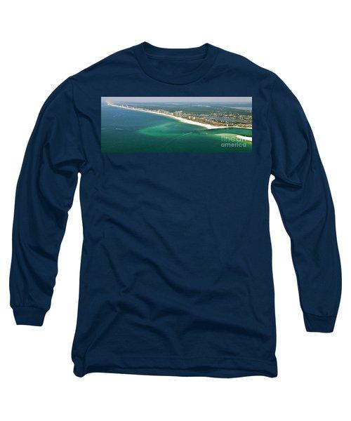 Looking N W Across Perdio Pass To Gulf Shores Long Sleeve T-Shirt